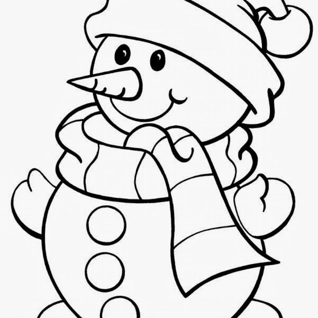Christmas Coloring Printables Free With 5 Printable Pages Snowman Tree Bells