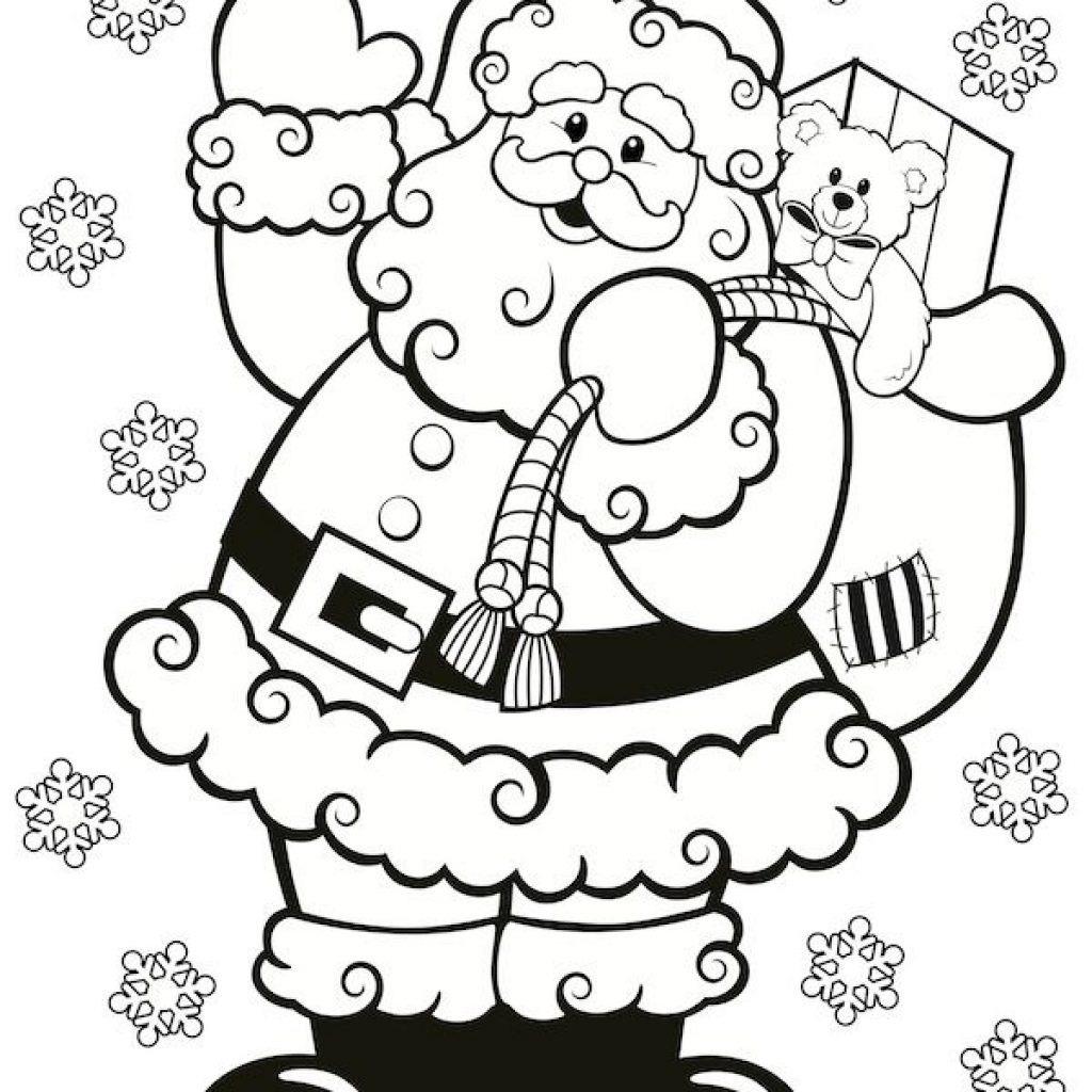 Christmas Coloring Printables Free With Pages Pinterest