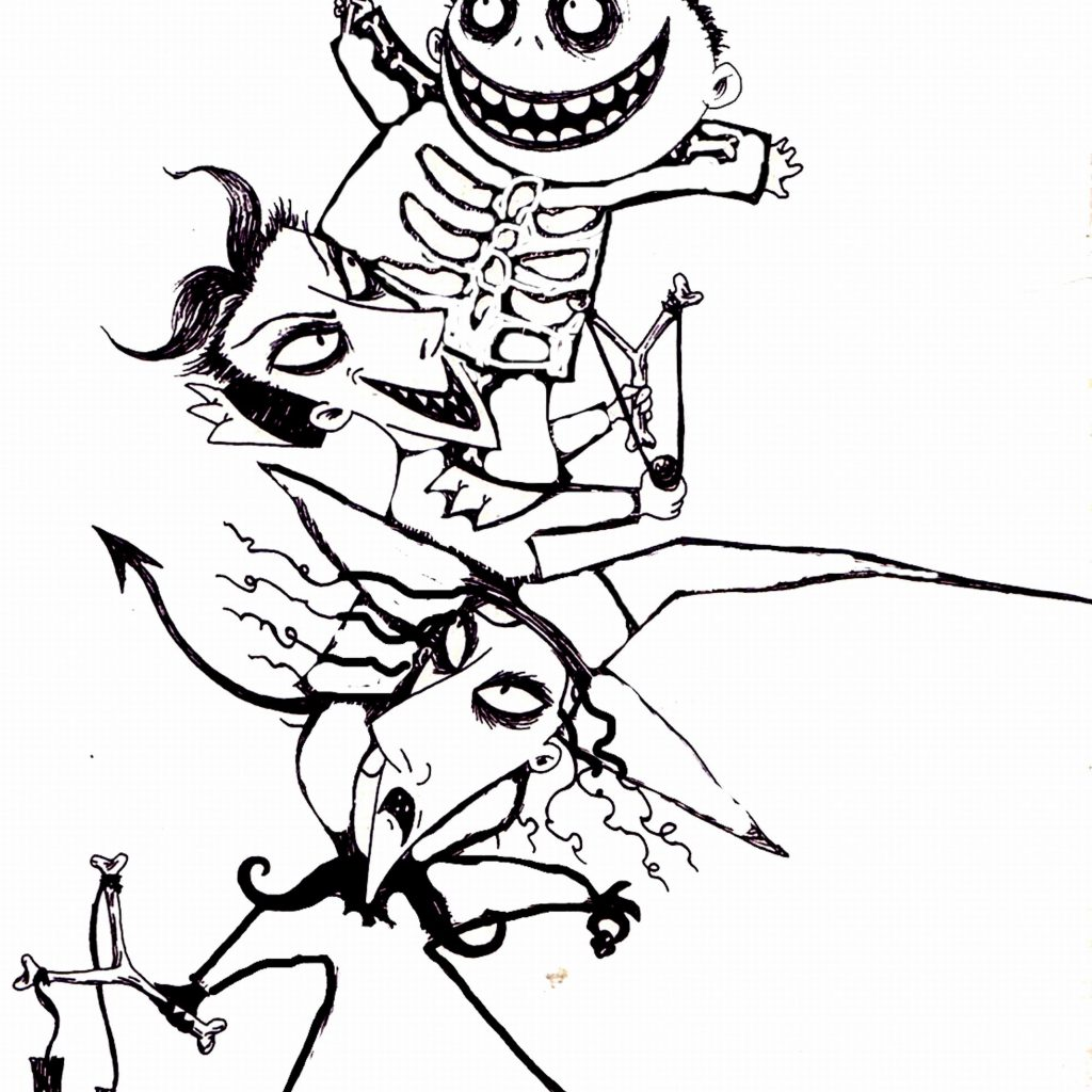 Christmas Coloring Printouts With Free Printable Nightmare Before Pages Best