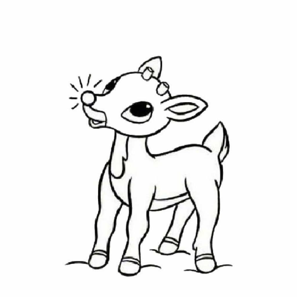 Christmas Coloring Rudolph With The Red Nosed Reindeer Page Arts And