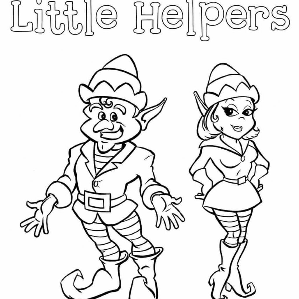 Christmas Coloring Sheets Elf With 20 On The Shelf Pages For Kids TimyKids