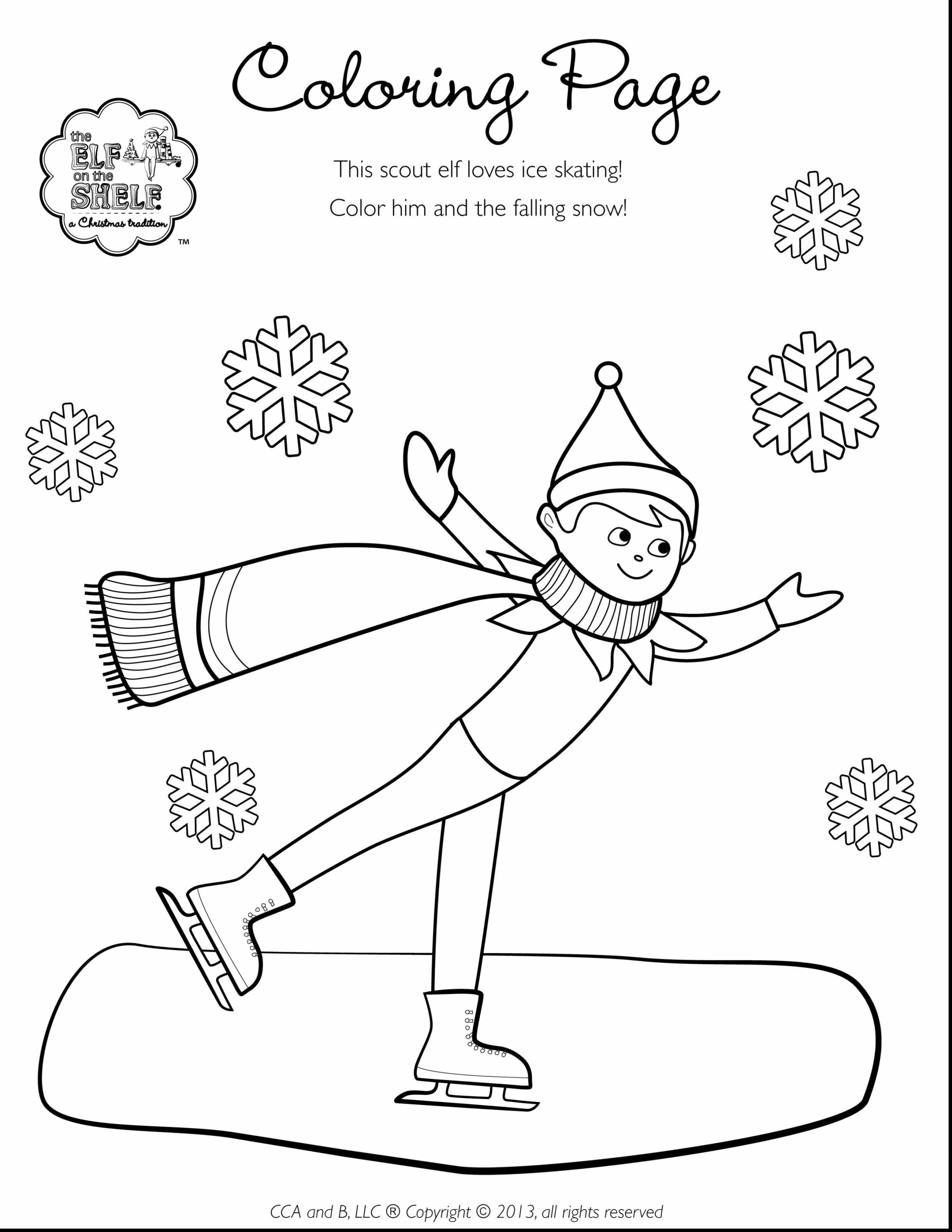 Christmas Coloring Sheets Elf With Pages Printable