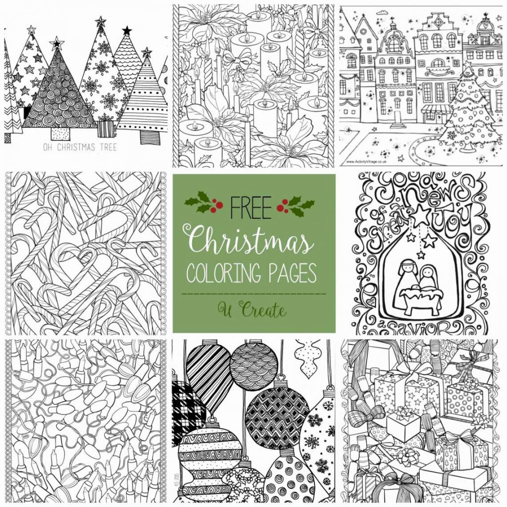 Christmas Coloring Sheets For Adults Pdf With Tree Page Doctor Who Pages