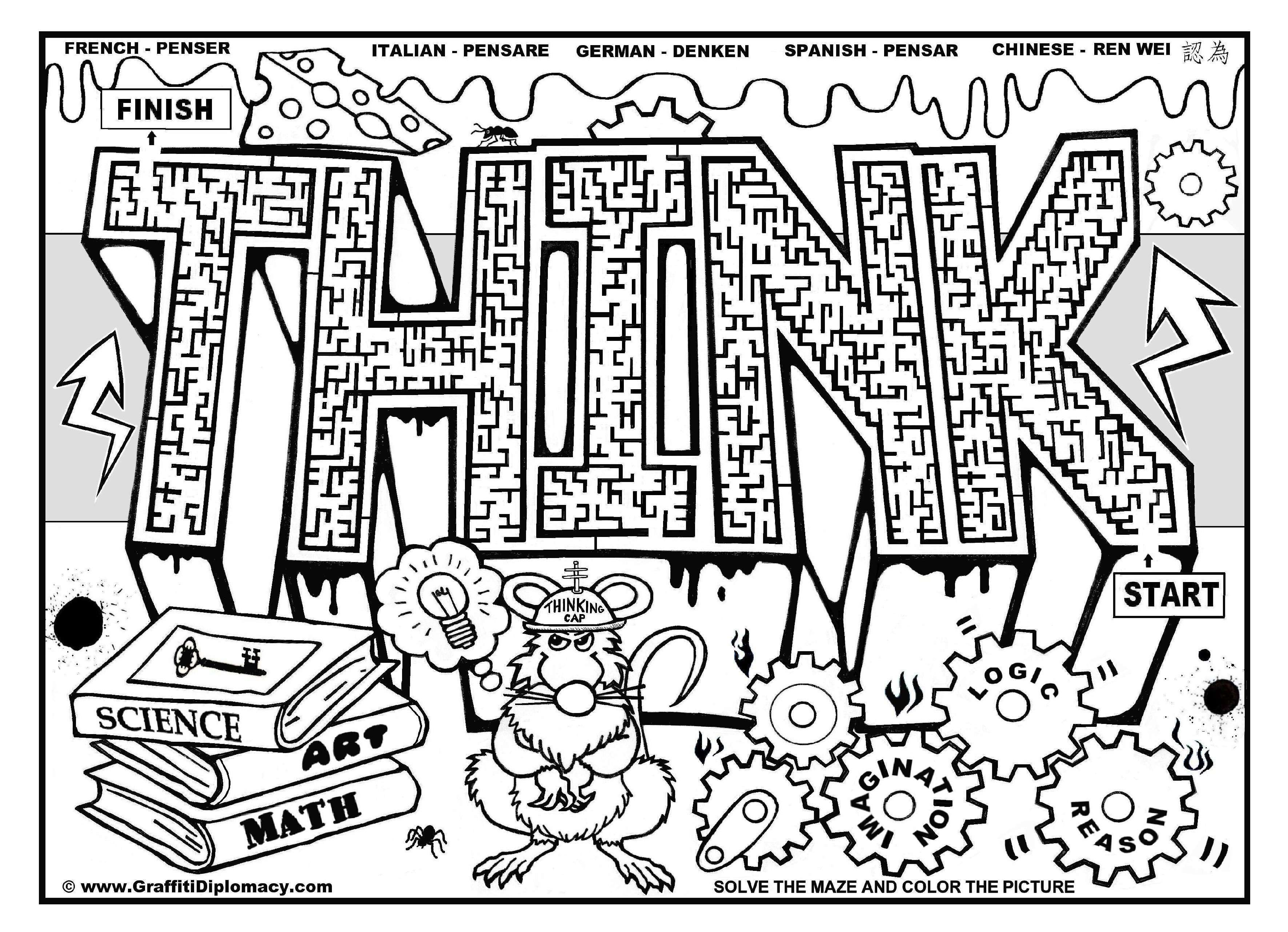 Christmas Coloring Sheets For Middle School With Pages