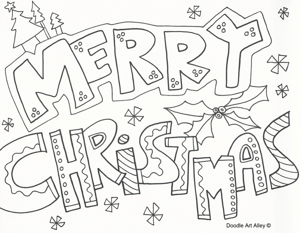 Christmas Coloring Sheets For Older Students With Happy Pages