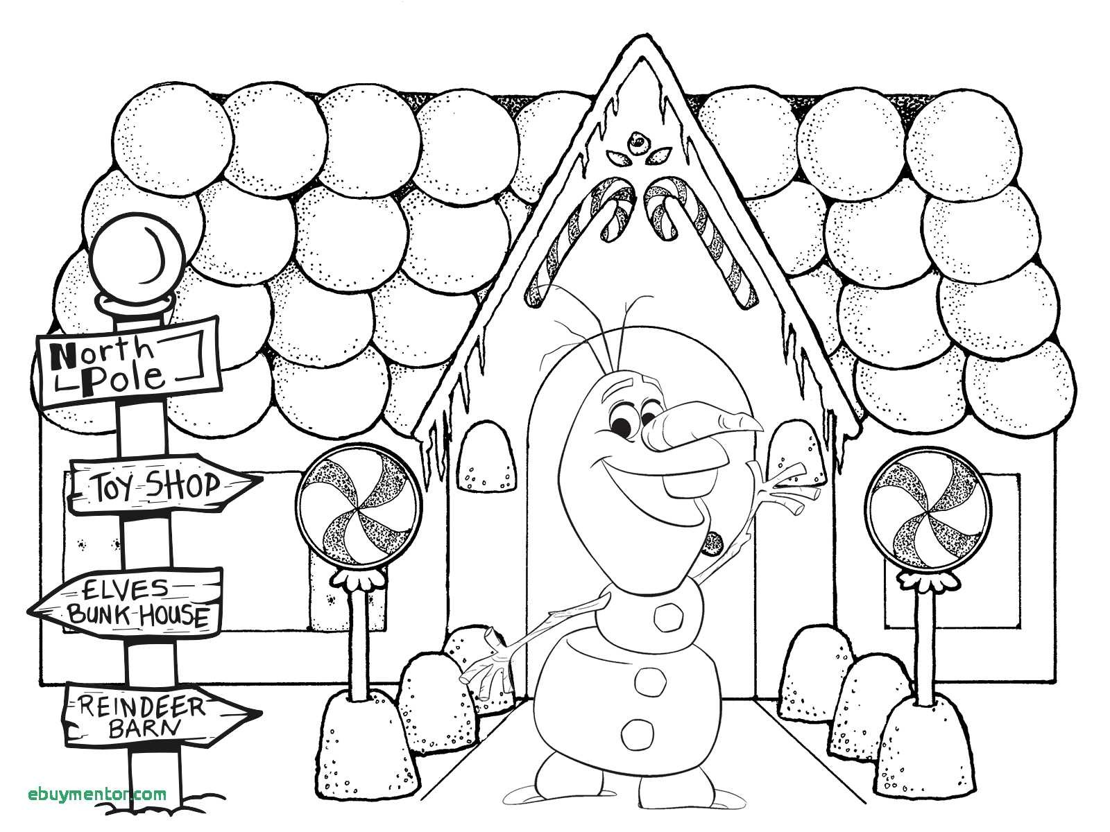 Christmas Coloring Sheets Gingerbread House With Pages Fresh