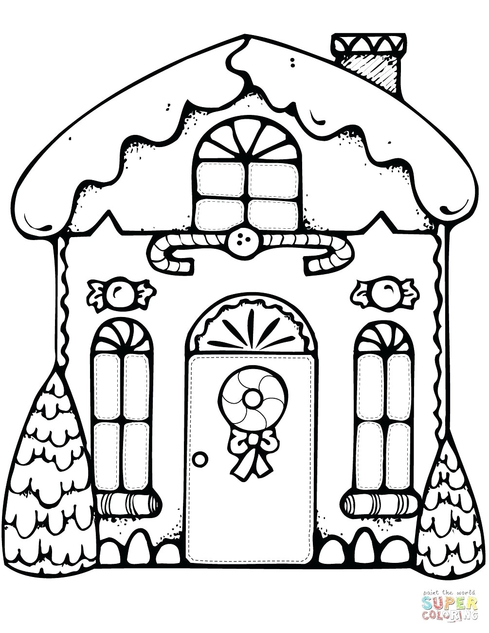 Christmas Coloring Sheets Gingerbread House With Printable