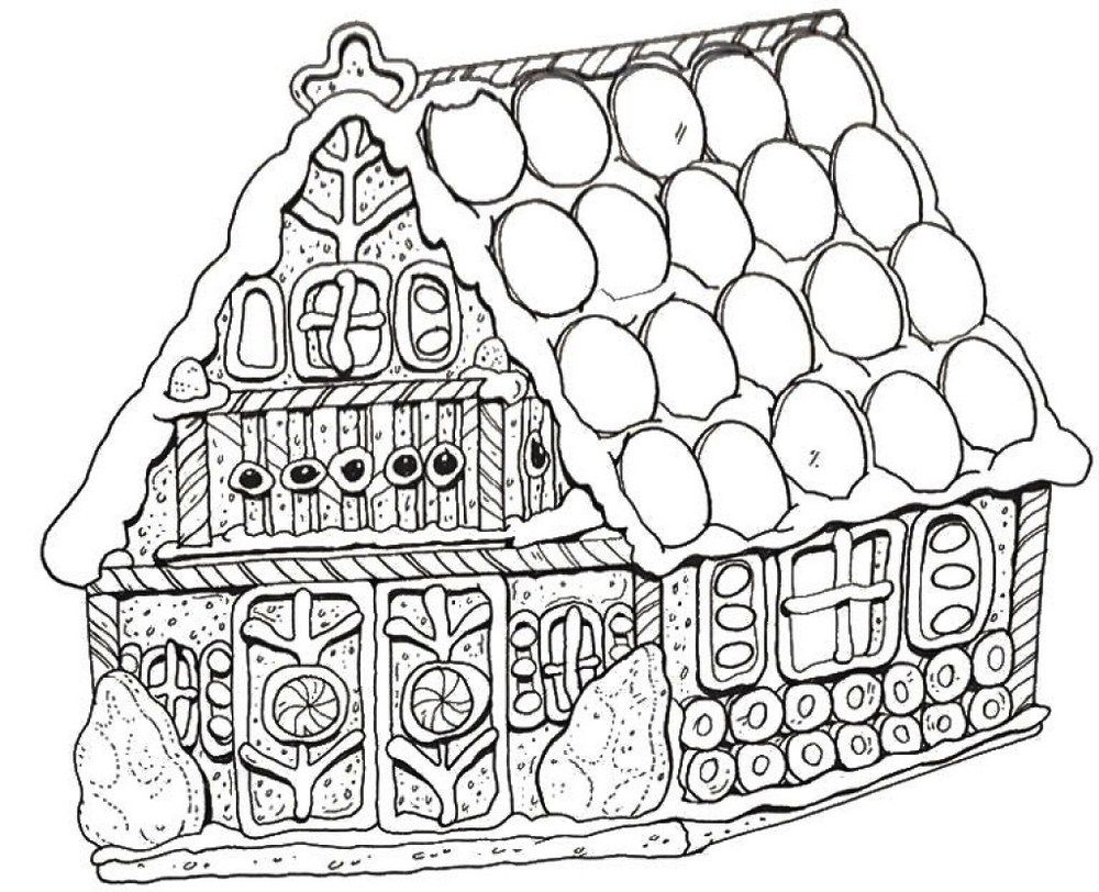 Christmas Coloring Sheets Gingerbread House With Special Pages To Print