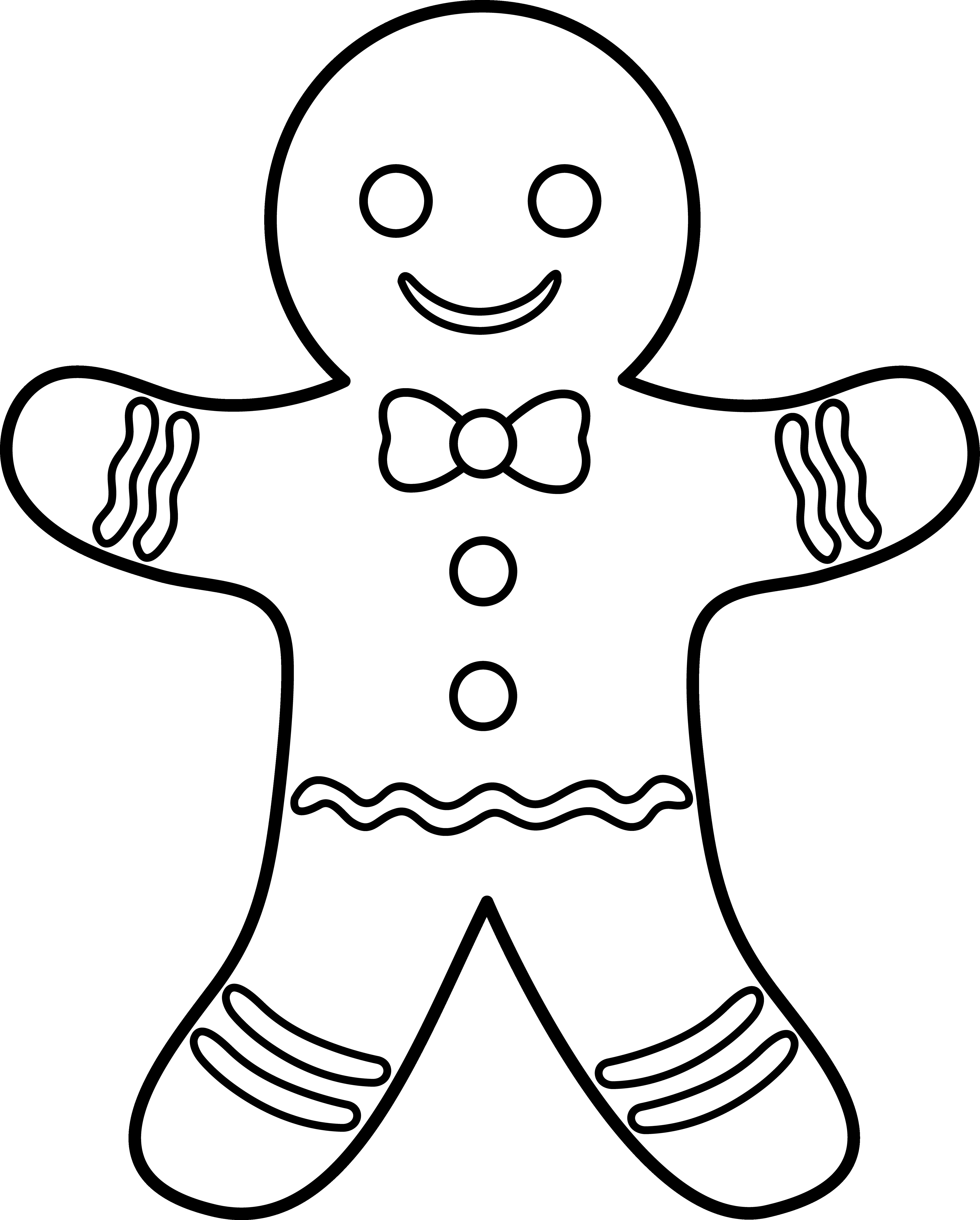 Christmas Coloring Sheets Gingerbread Man With Best