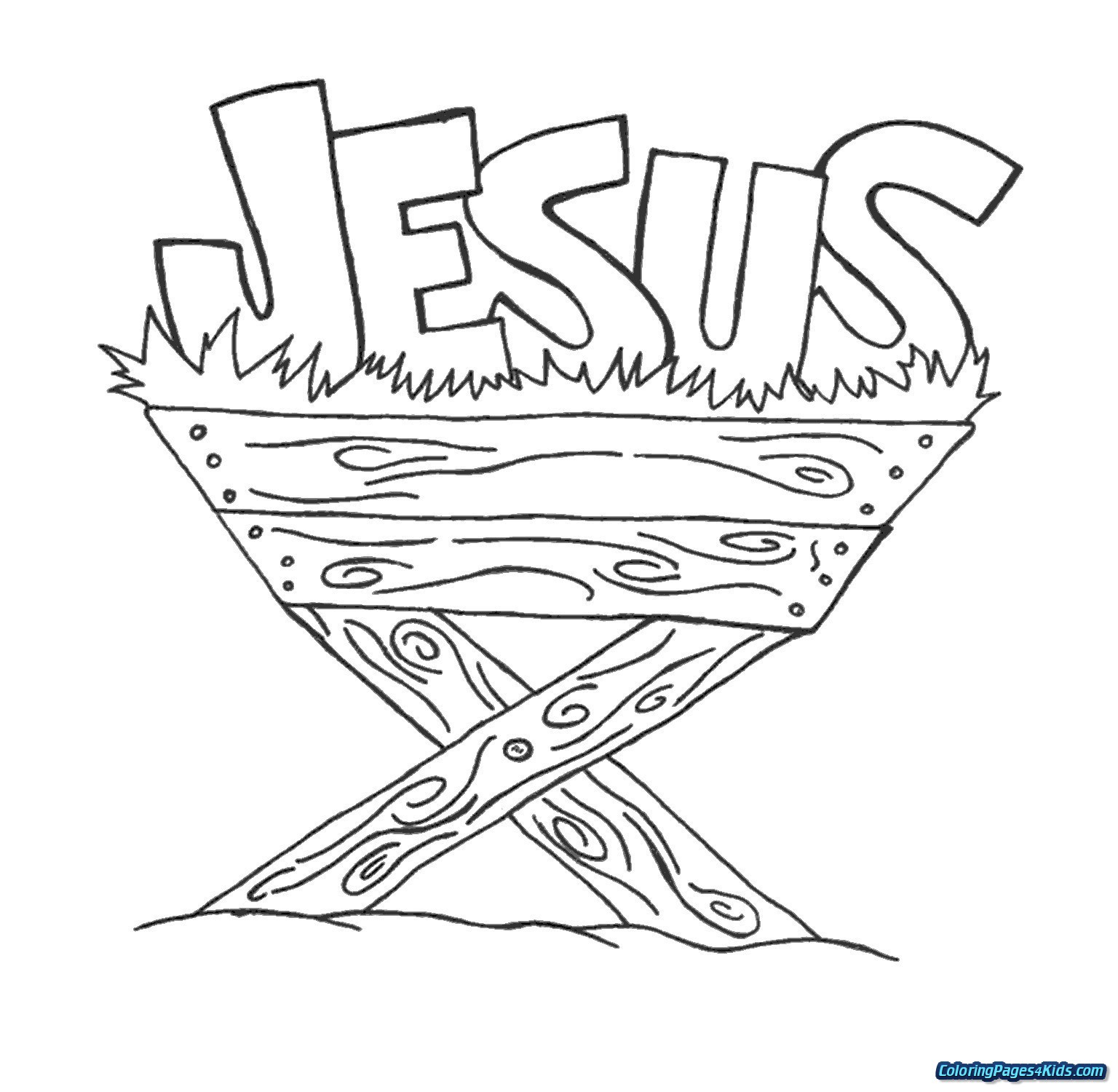 Christmas Coloring Sheets Jesus With Baby Pages For Kids
