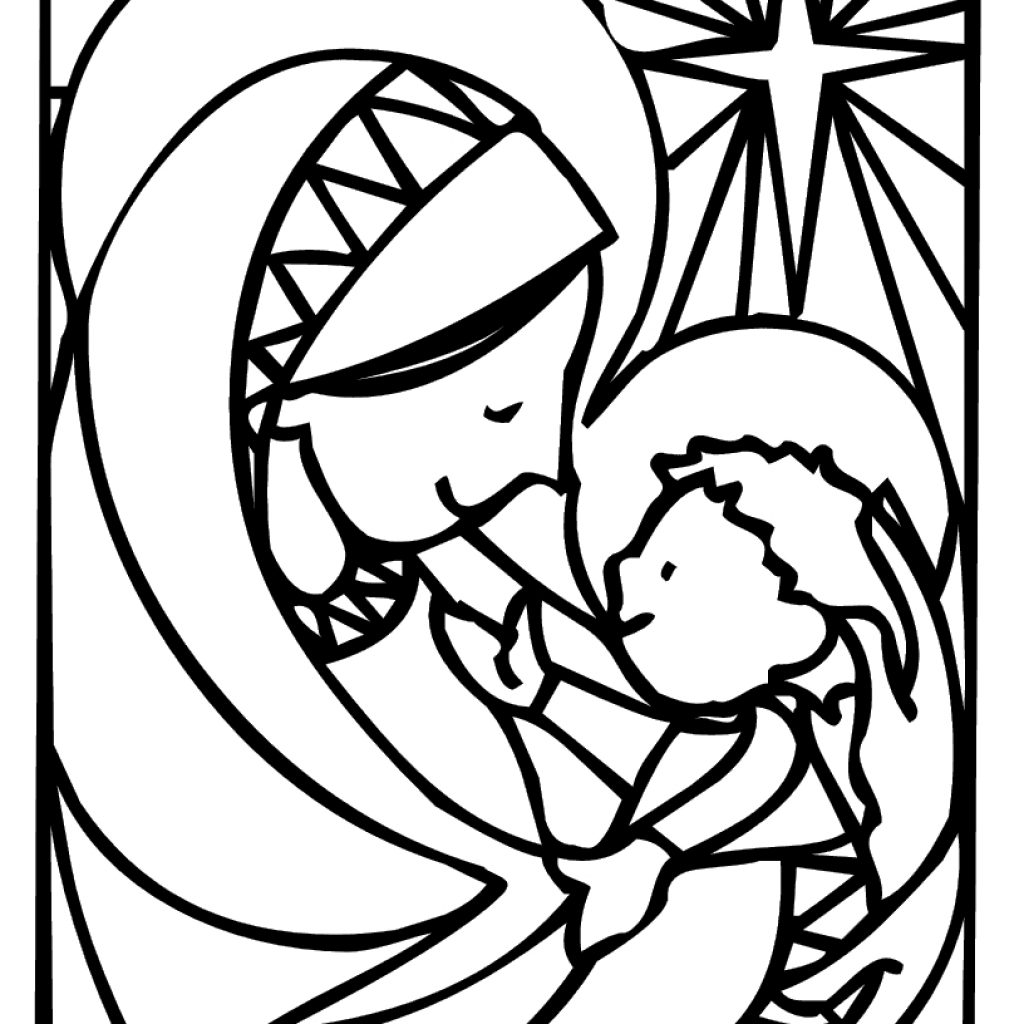 Christmas Coloring Sheets Jesus With Unique Cartoon Pages Design Printable