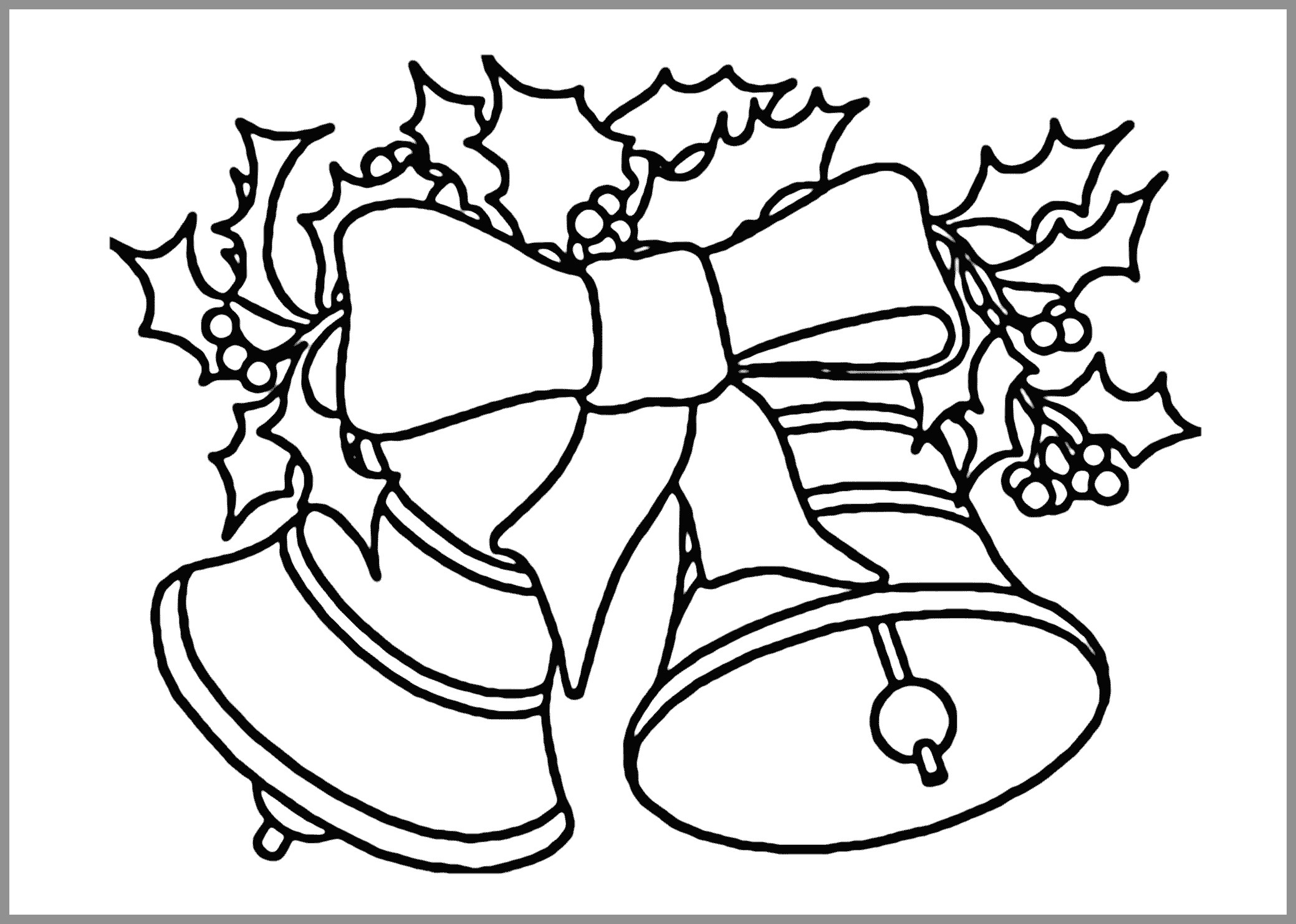Christmas Coloring Sheets Pdf With Pages Admirably Bells To Download And Print