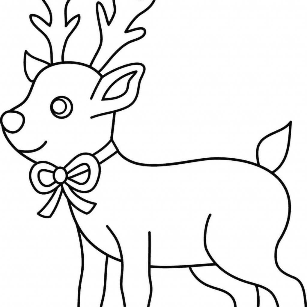 Christmas Coloring Sheets Reindeer With New Pages Gallery Printable Sheet