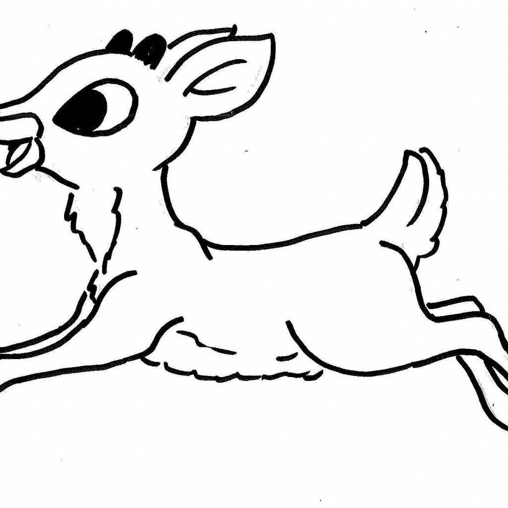 Christmas Coloring Sheets Reindeer With Rudolph The Red Nosed Pages