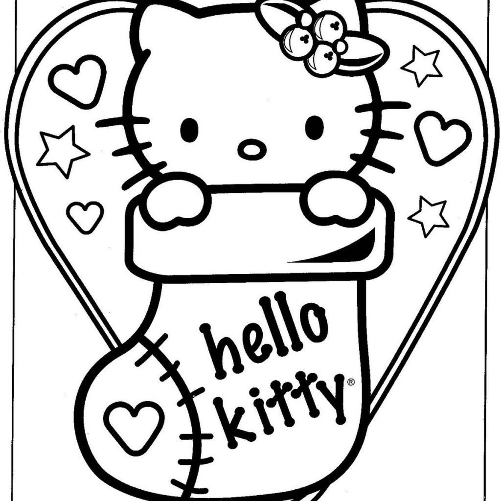 Christmas Coloring Sheets That You Can Print With Hello Kitty Pages Free 2366853