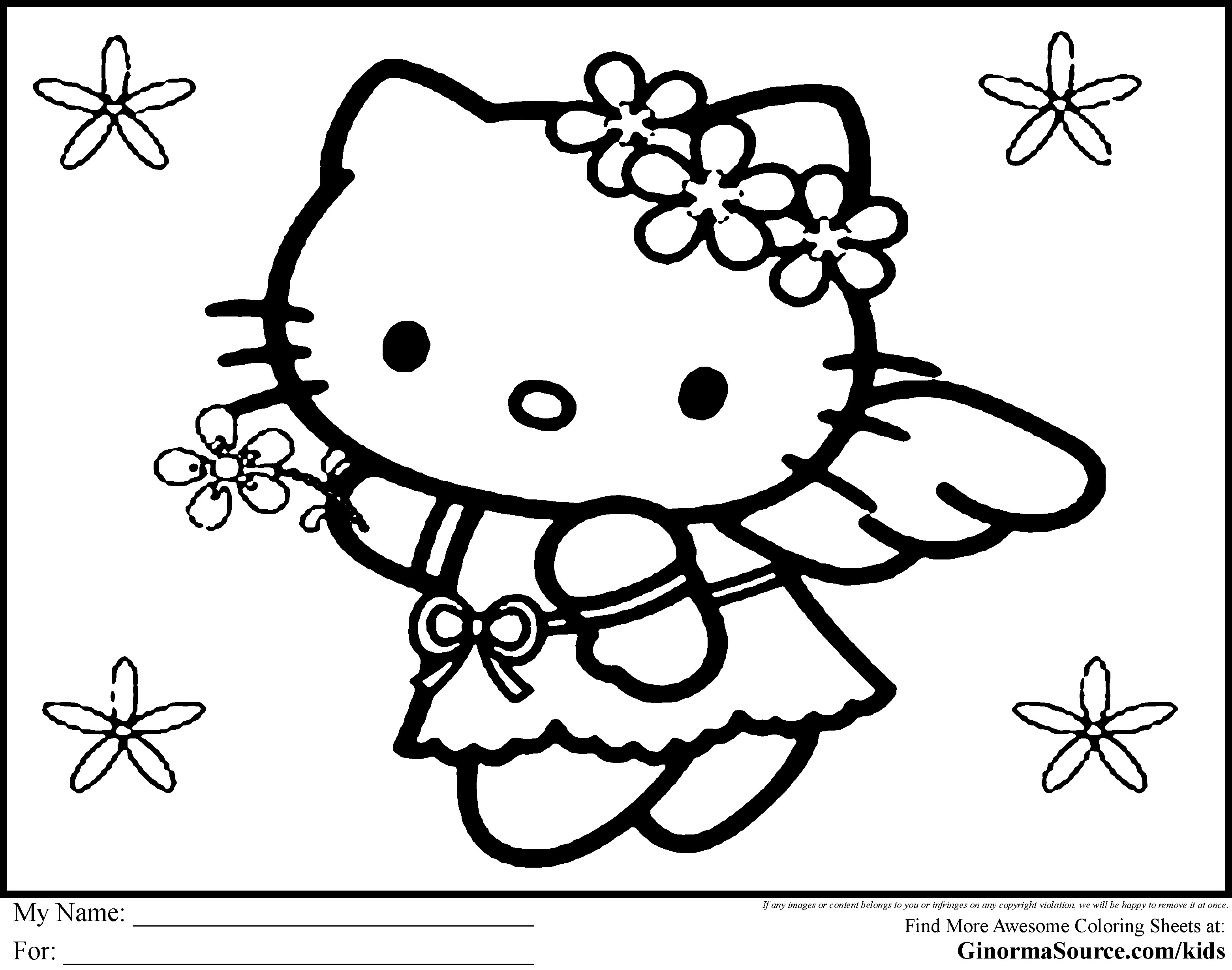 Christmas Coloring Sheets That You Can Print With Hello Kitty Pages Free Archives Liderex