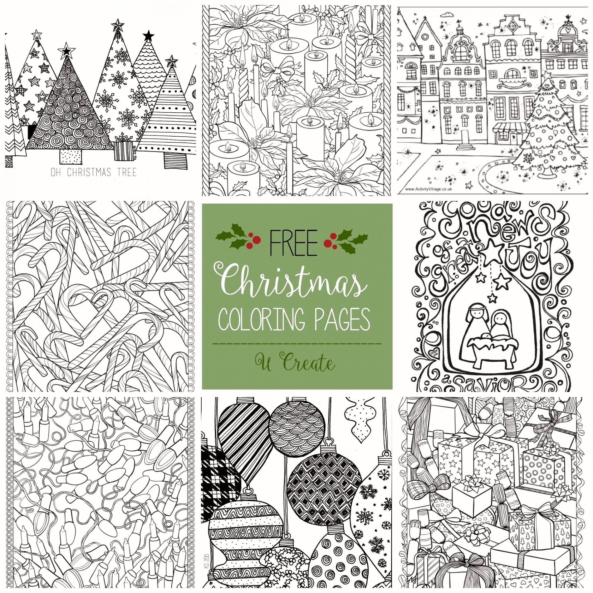 Christmas Coloring Sheets That You Can Print With Printables Pages Printable