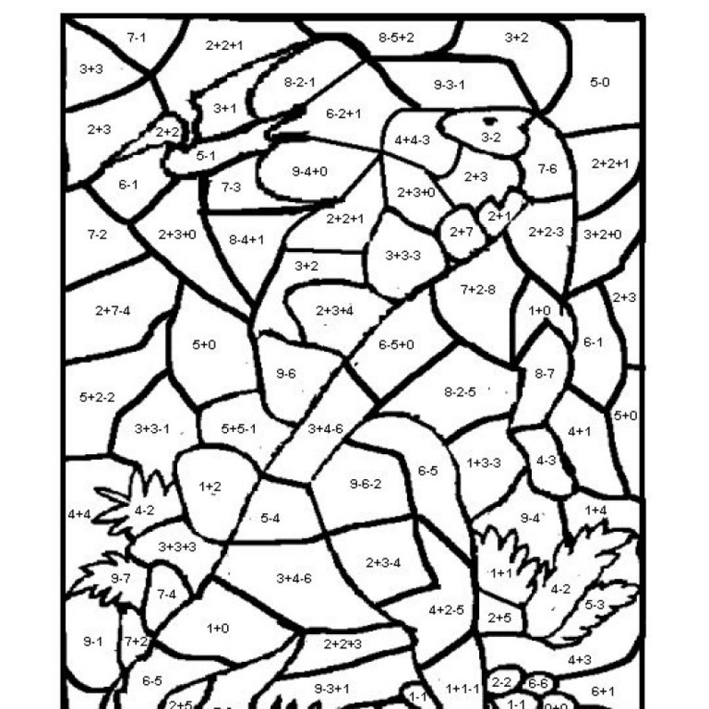 Christmas Coloring Sheets With Math Problems Add Www Topsimages Com