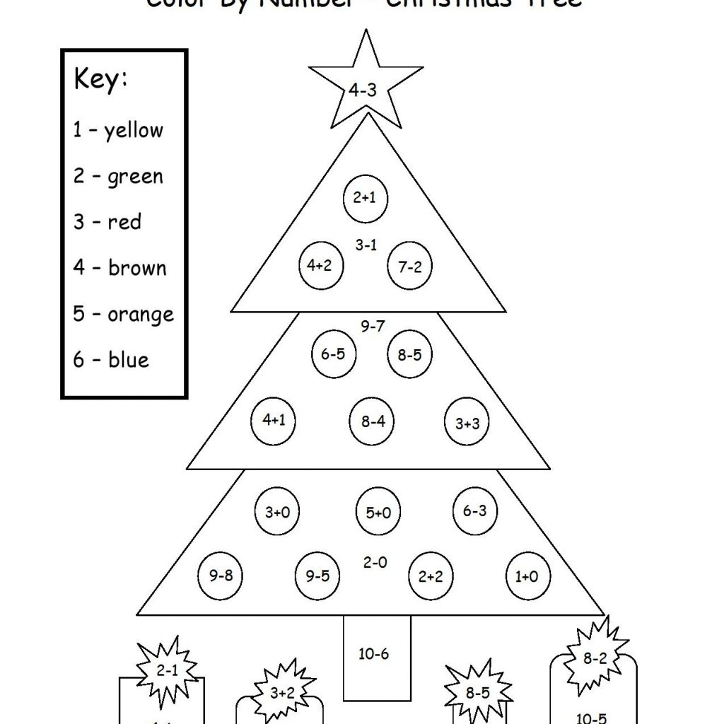 Christmas Coloring Sheets With Math Problems Pin By Kristin George On Pinterest