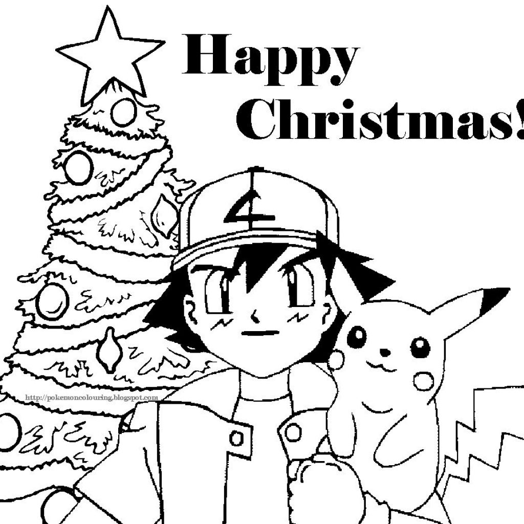 Christmas Coloring Sheets With Pages POKEMON CHRISTMAS COLORING PICTURES FREE