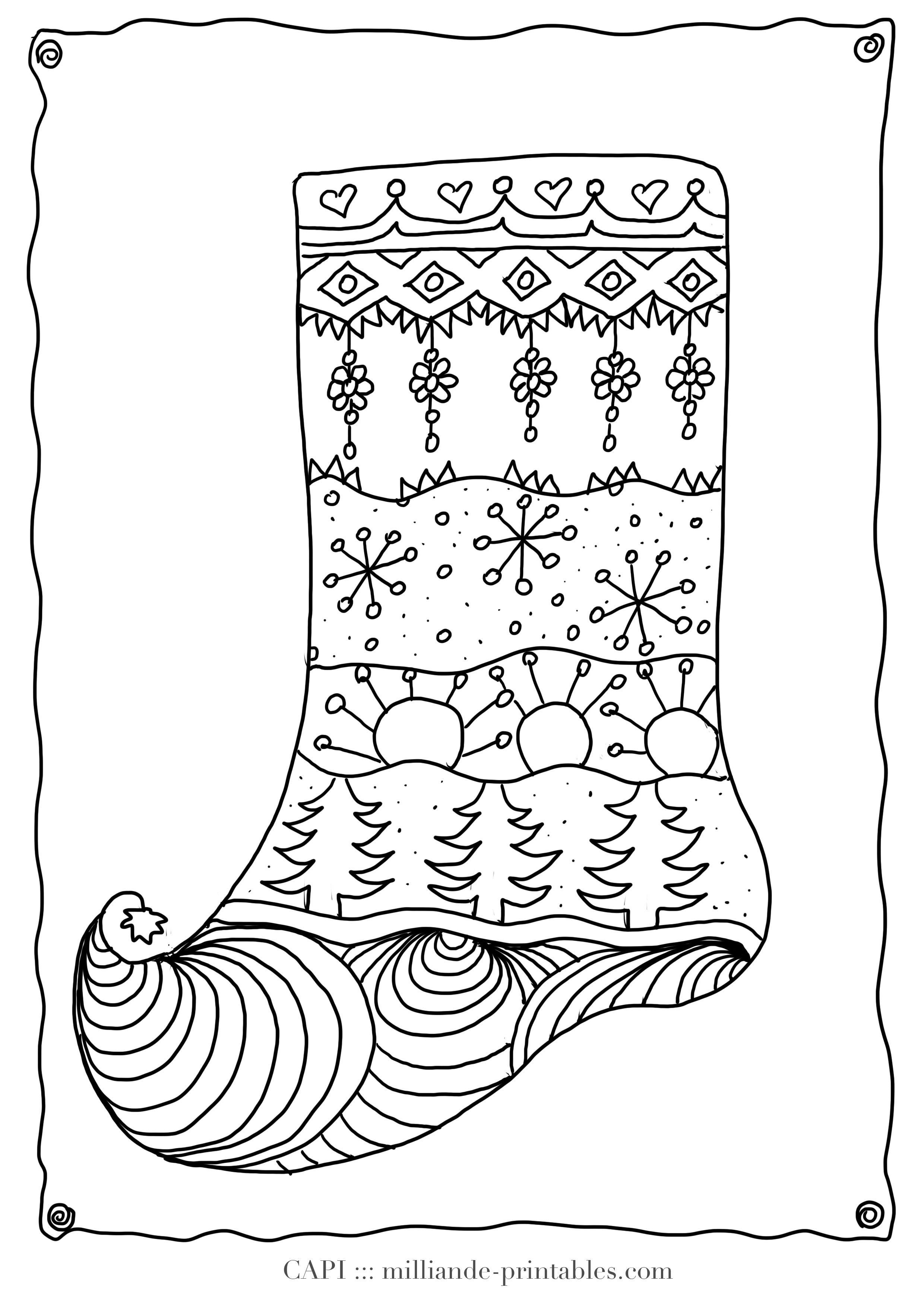 Christmas Coloring Stockings Template With Stocking Pages Google Search Pinterest