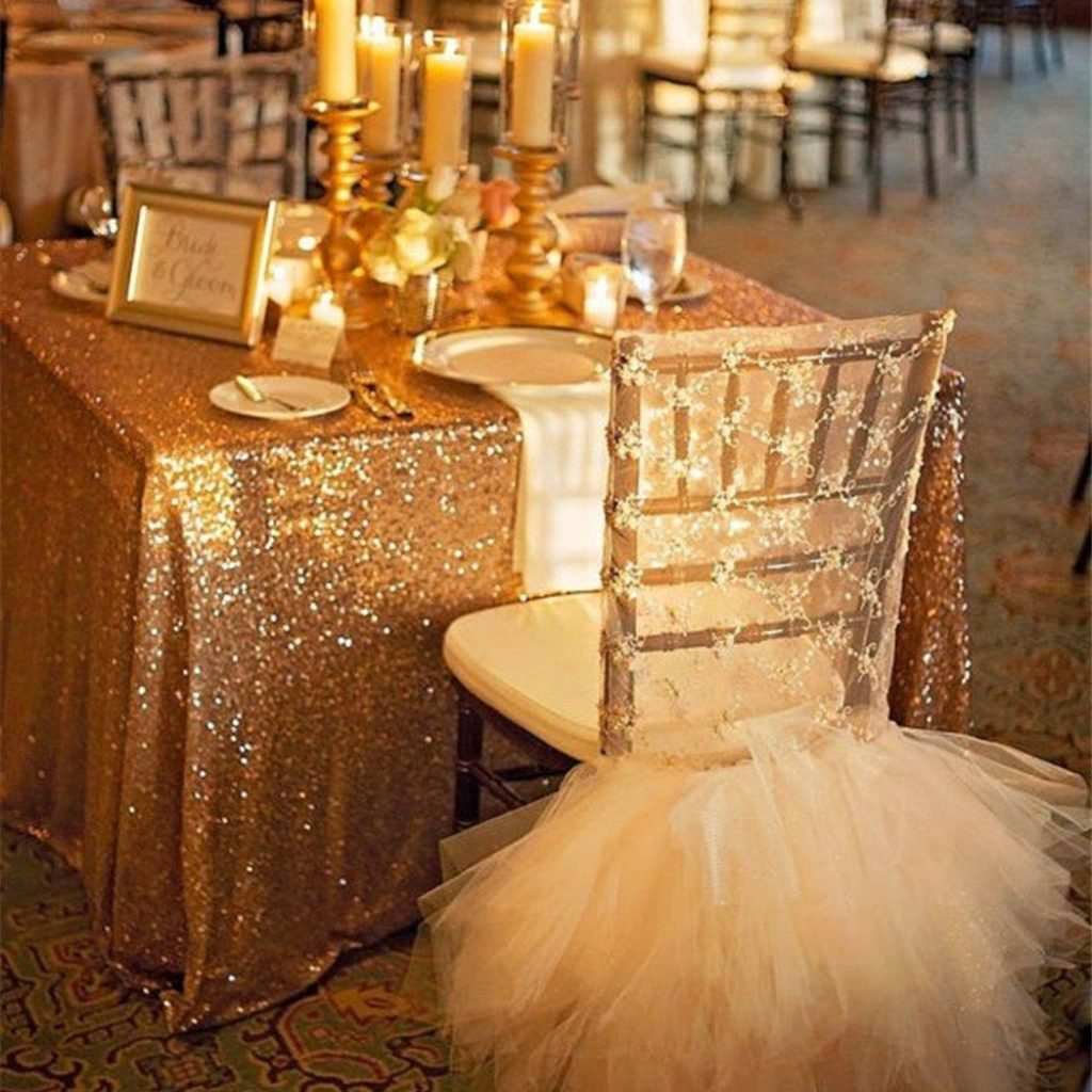 Christmas Coloring Tablecloth With 72 Gold Sequin Glamorous