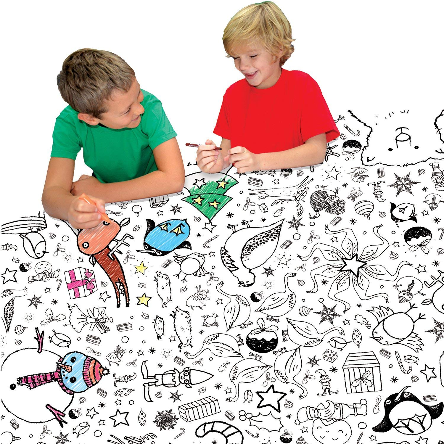 Christmas Coloring Tablecloth With Amazon Com And Activity Paper Tablecover