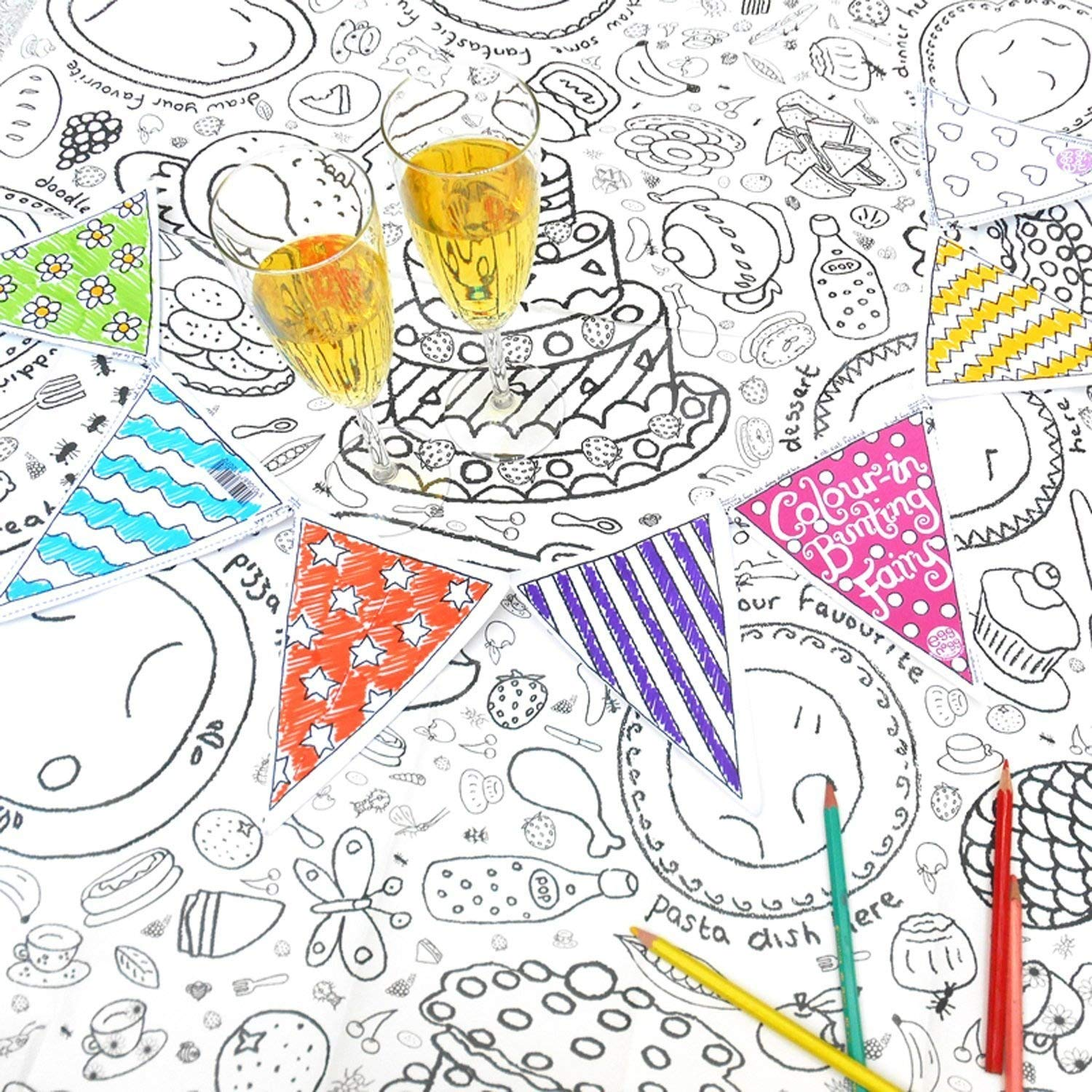 Christmas Coloring Tablecloth With Amazon Com Colour In TC04 Toys Games