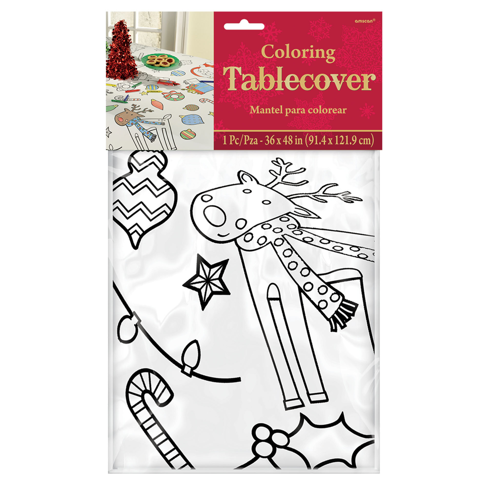Christmas Coloring Tablecloth With Amscan Color In Rectangular Wayfair