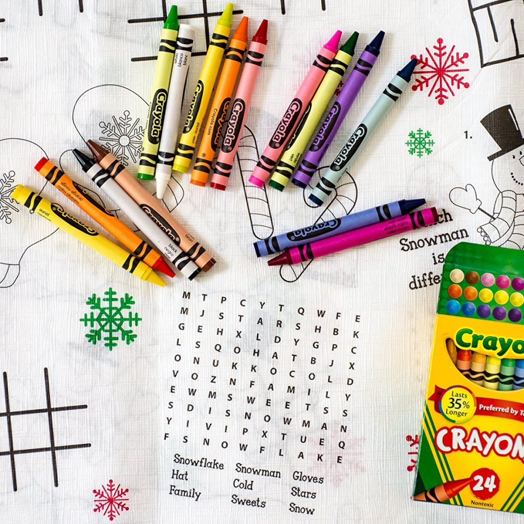 Christmas Coloring Tablecloth With Buy Kids Activity Bundle 5 Items 1 Paper