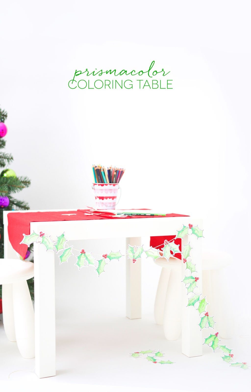 Christmas Coloring Tablecloth With DIY Table Damask Love