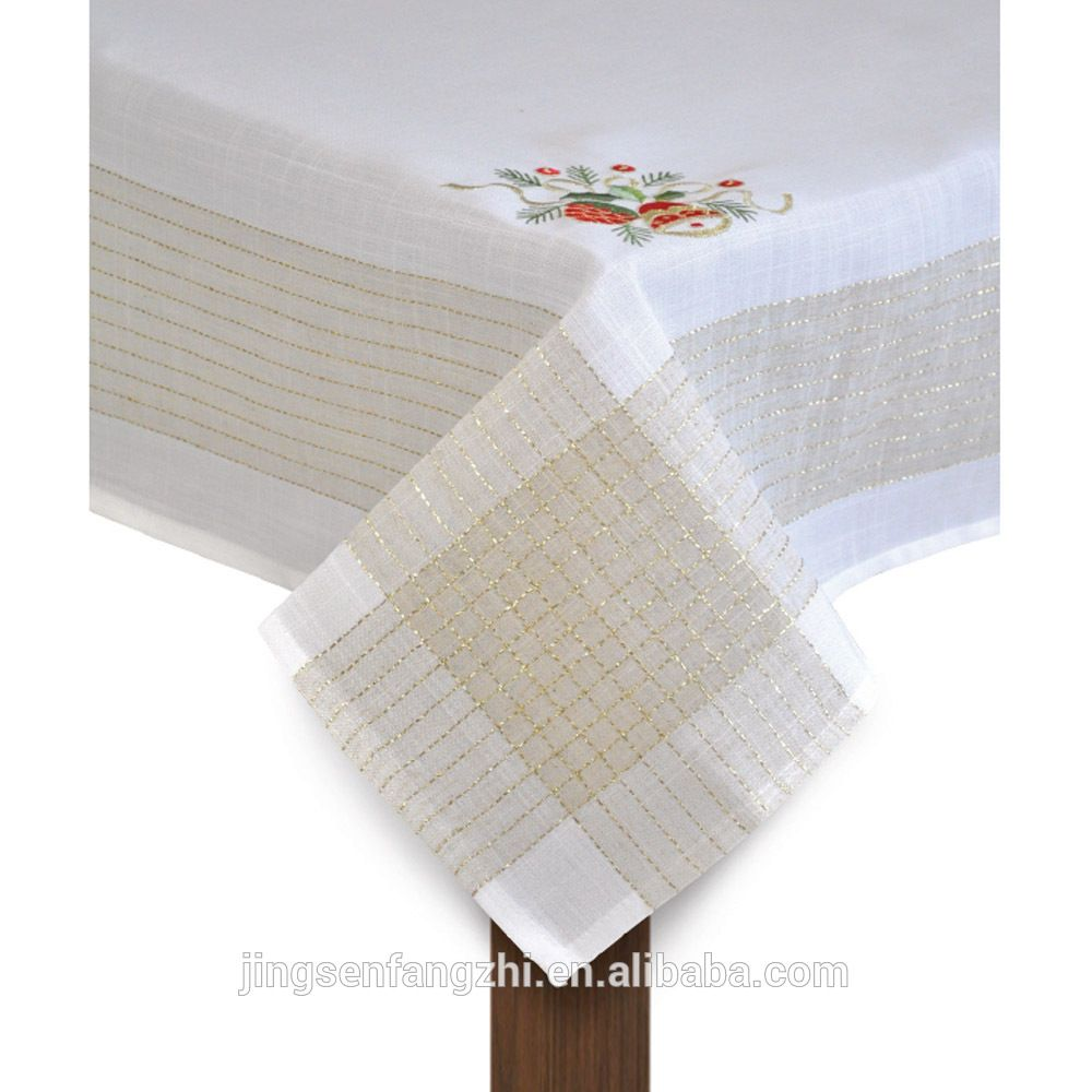 Christmas Coloring Tablecloth With Embroidery Find Complete Details About