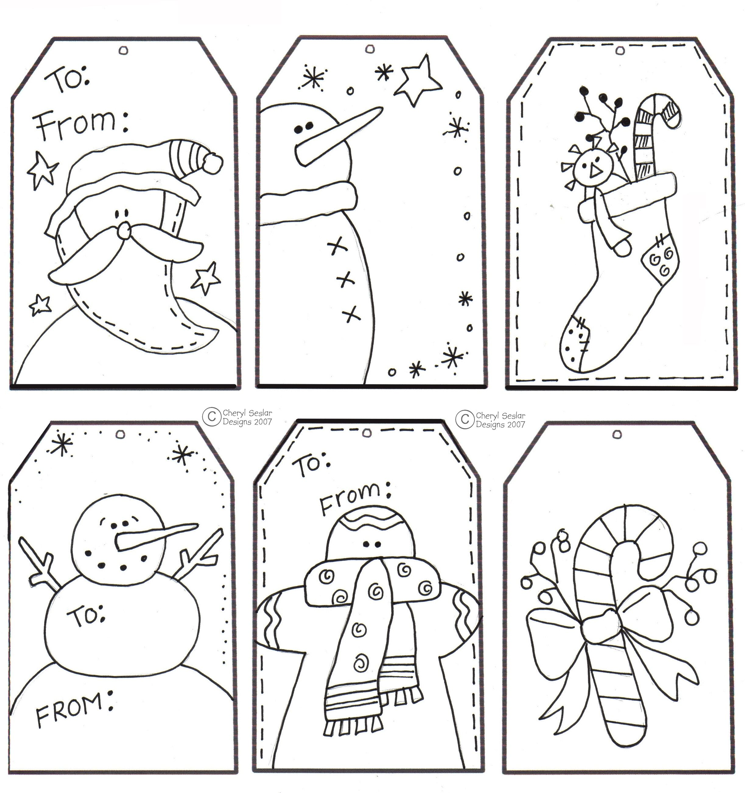 Christmas Coloring Tags With Printable For LOVE
