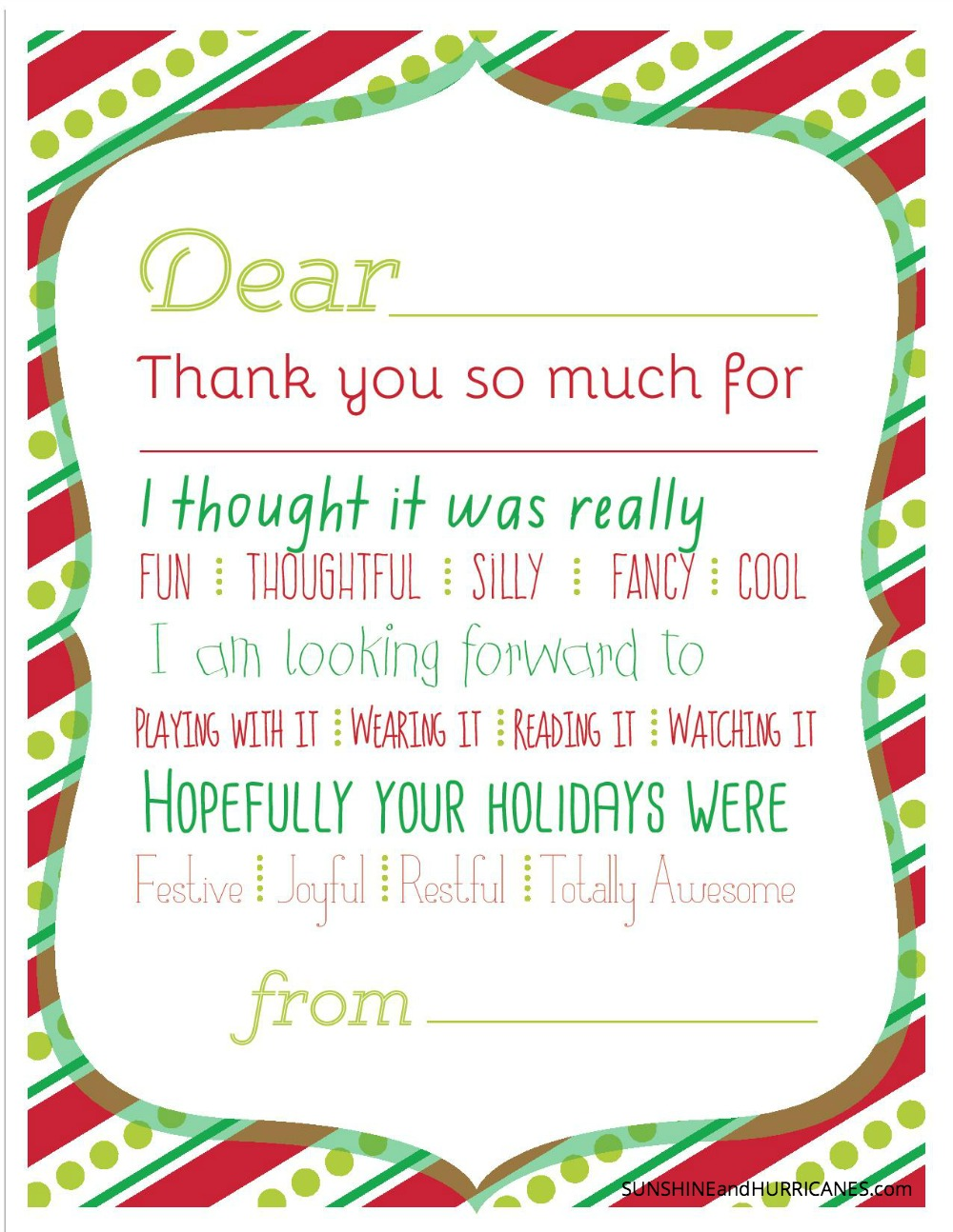 Christmas Coloring Thank You Cards With Printable For Kids