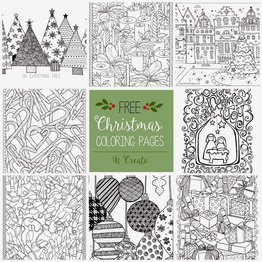 Christmas Coloring To Print For Free With Pages COLORING PAGE