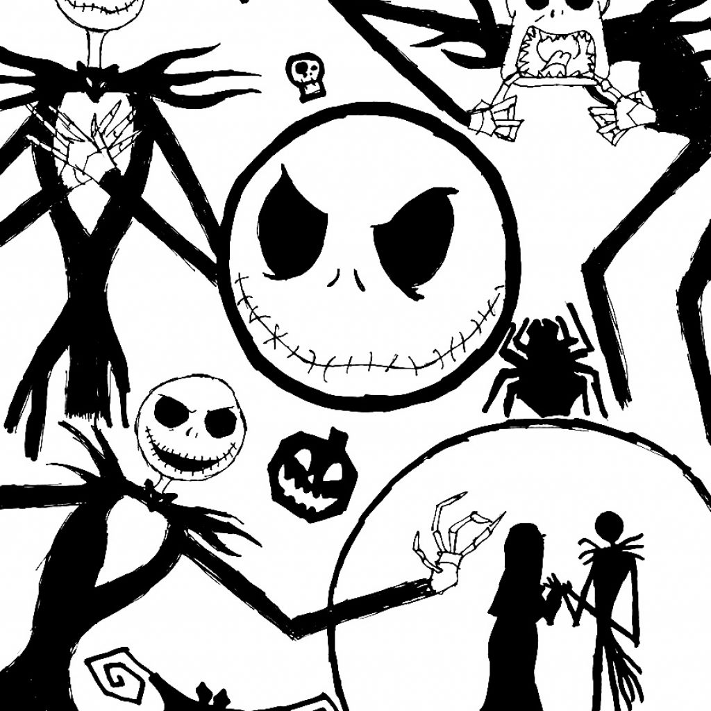 Christmas Coloring To Print With Free Printable Nightmare Before Pages Best