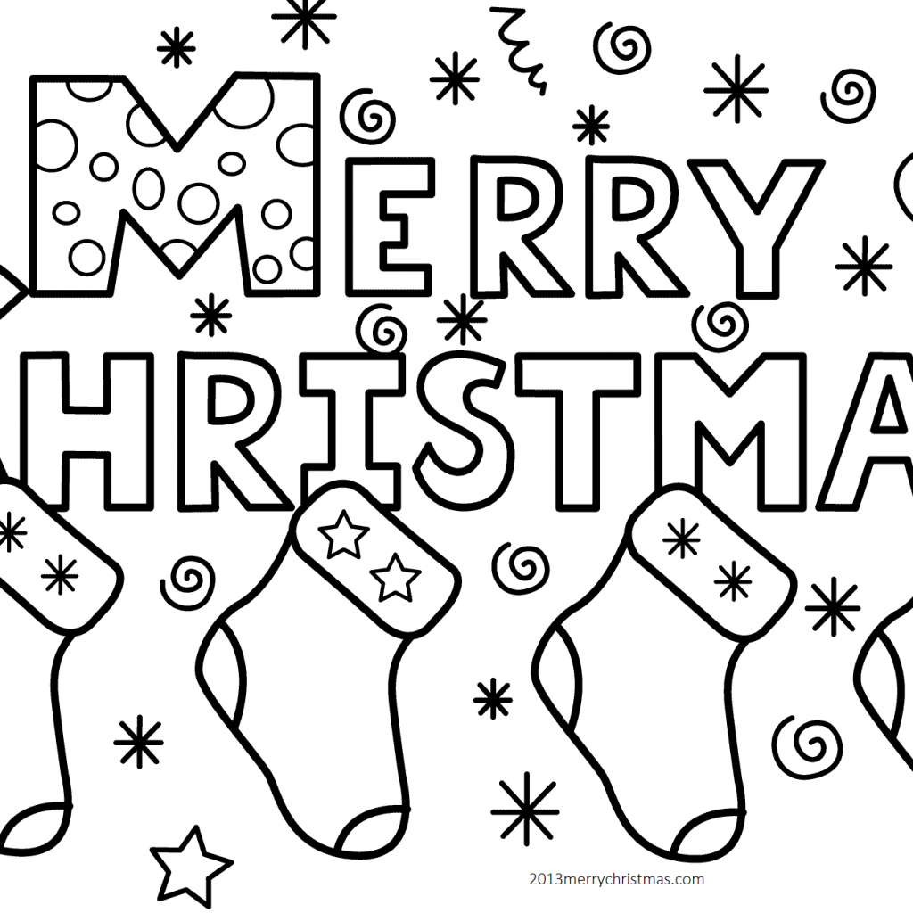 Christmas Coloring Toddlers With Best Pages