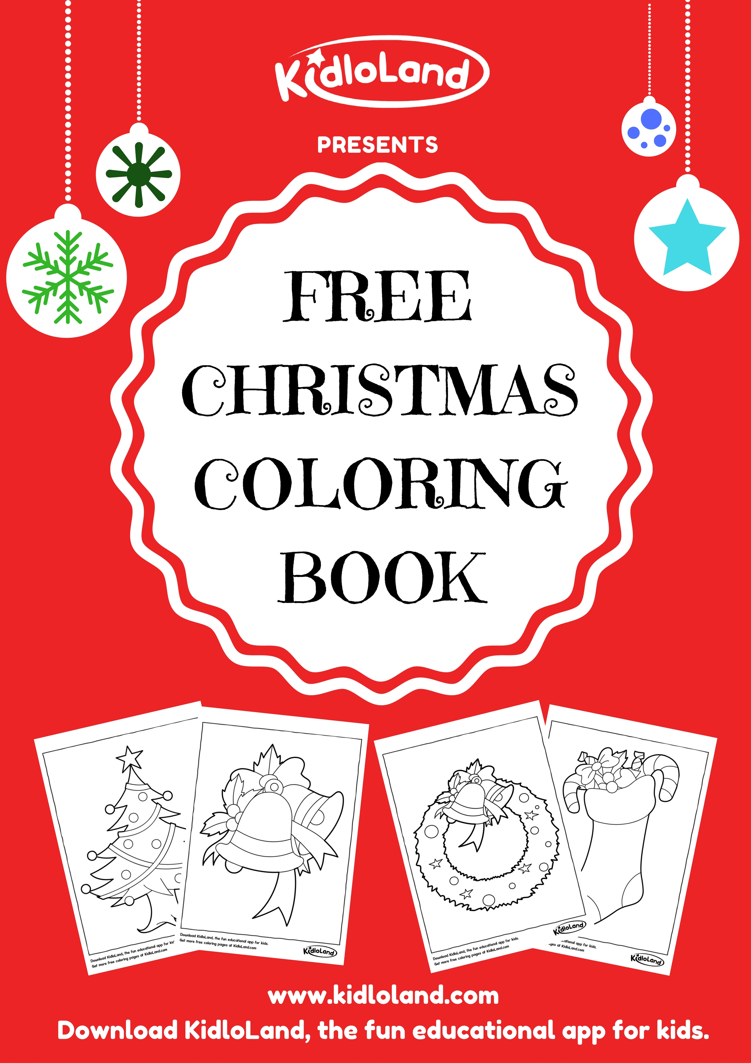 Christmas Coloring Toddlers With FREE CHRISTMAS COLORING BOOK KidloLand