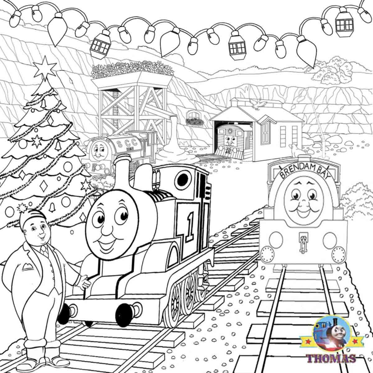Christmas Coloring Train With Fun Activities Printable Thomas And Friends Party