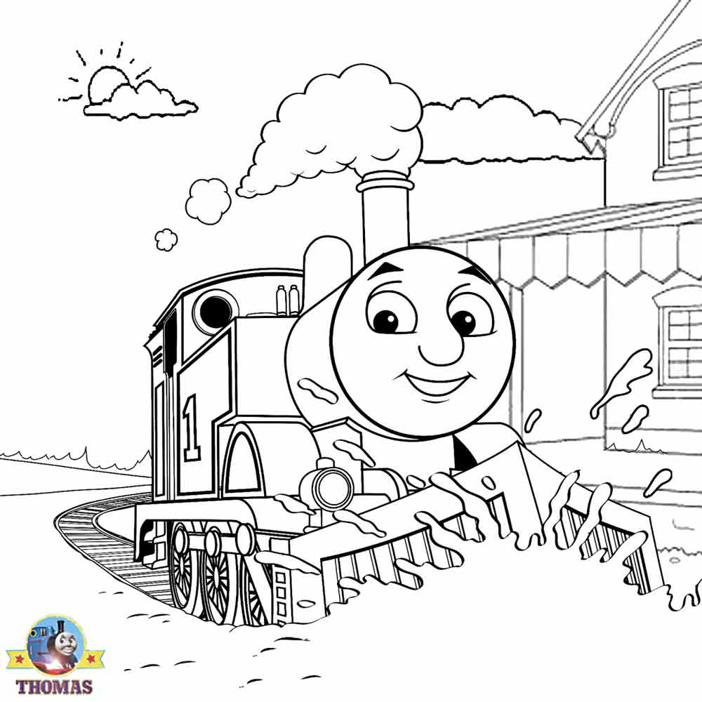 Christmas Coloring Train With Thomas Sheets For Children Printable Pictures