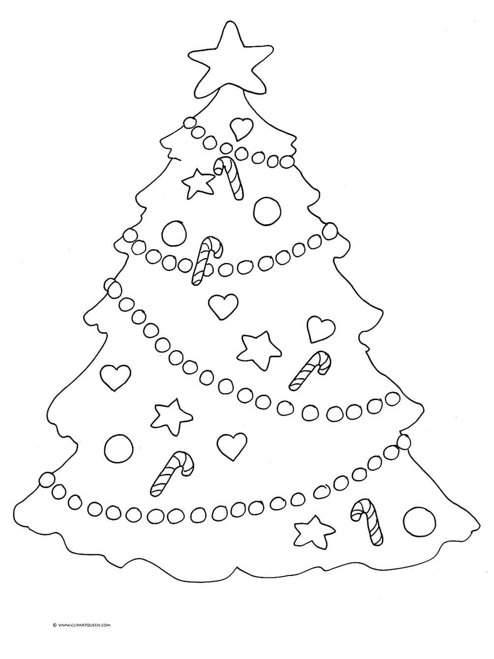 Christmas Coloring Tree With Clipart Colouring Pages Page 3