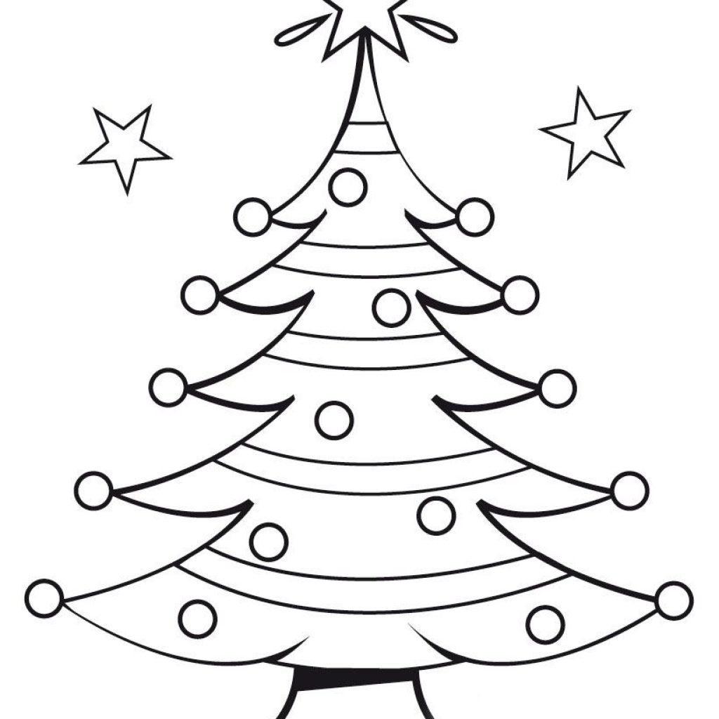 Christmas Coloring Tree With Free Pages Teaching Pinterest Colors