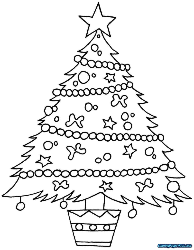 Christmas Coloring Tree With Pages Of Valid Page