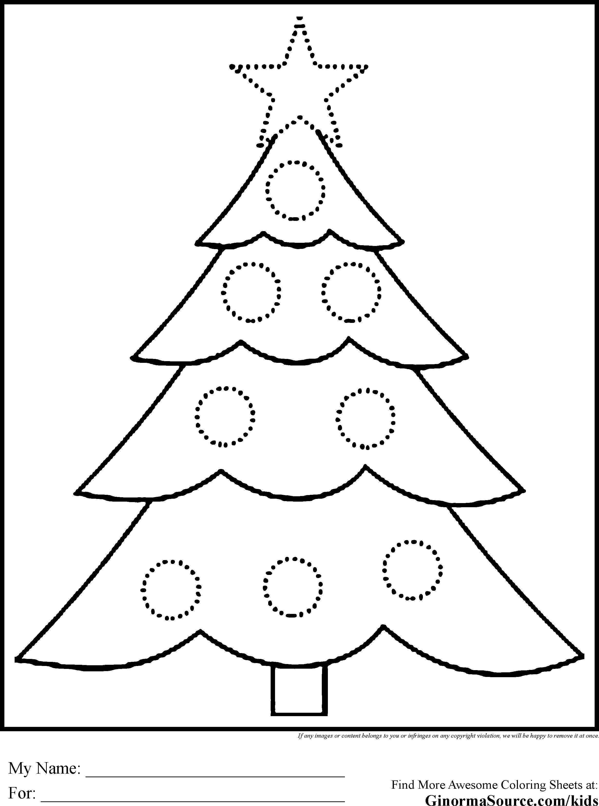 Christmas Coloring Trees With Big Pages Refrence