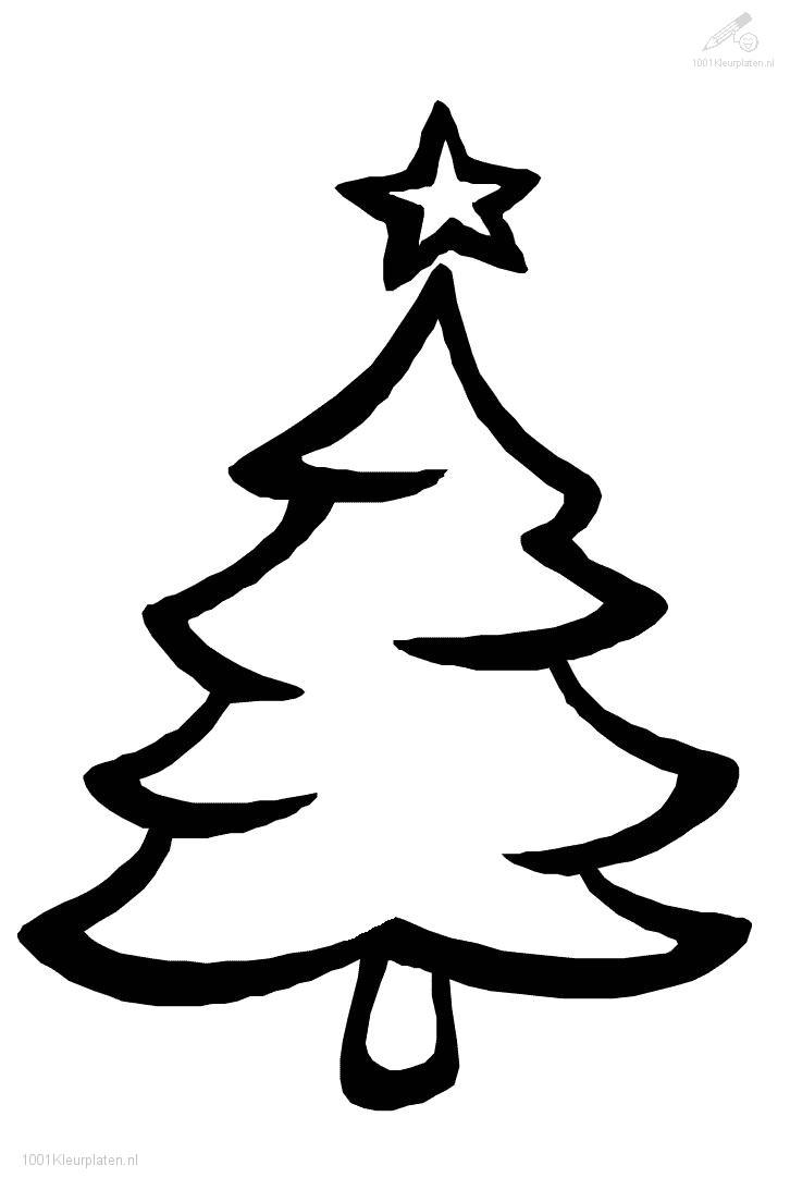 Christmas Coloring Trees With Free Tree Outlines Download Clip Art