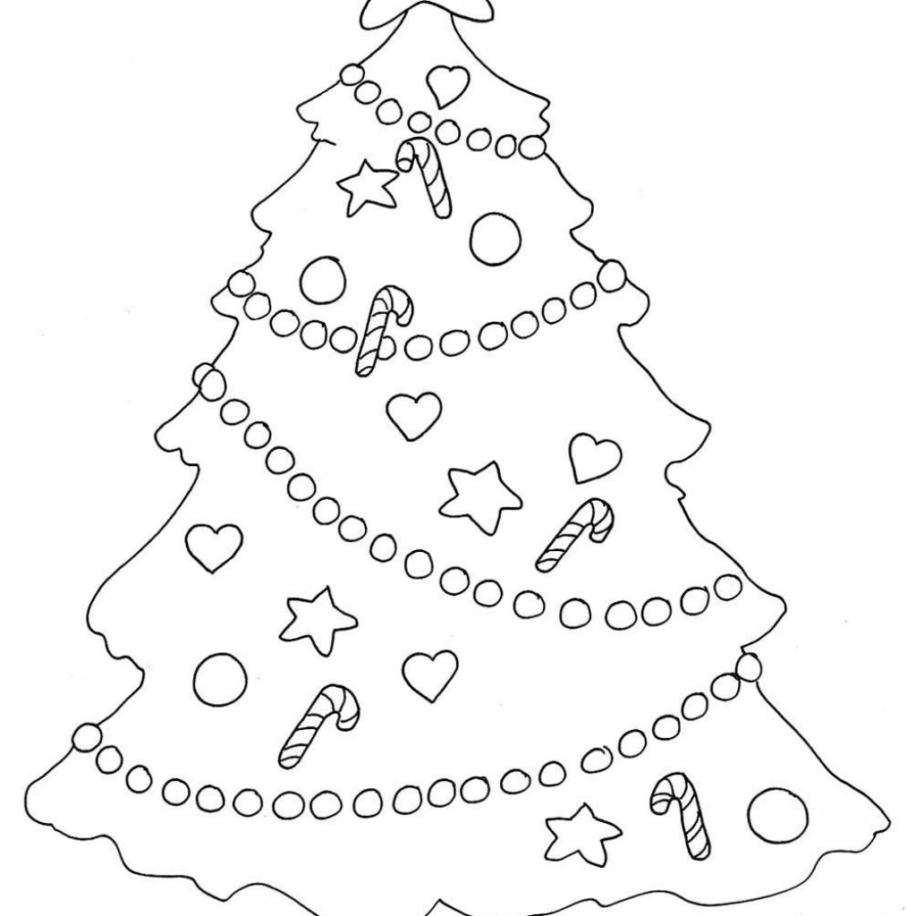 Christmas Coloring Trees With Pages
