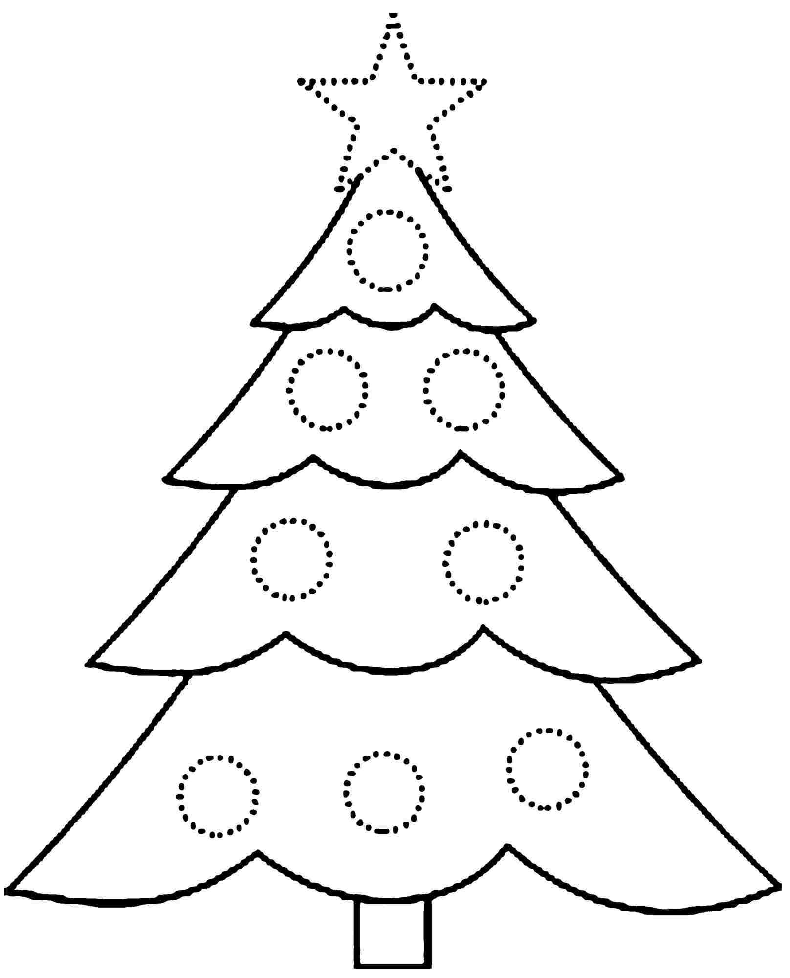 Christmas Coloring Trees With Pages Tree Gallery Free Books