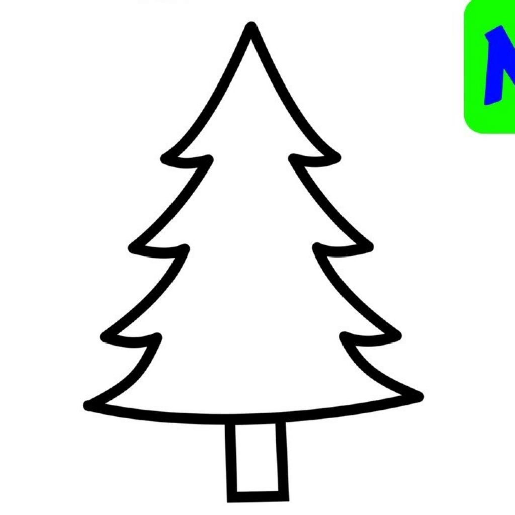 Christmas Coloring Trees With Tree Pages For Kids Painting And Drawing