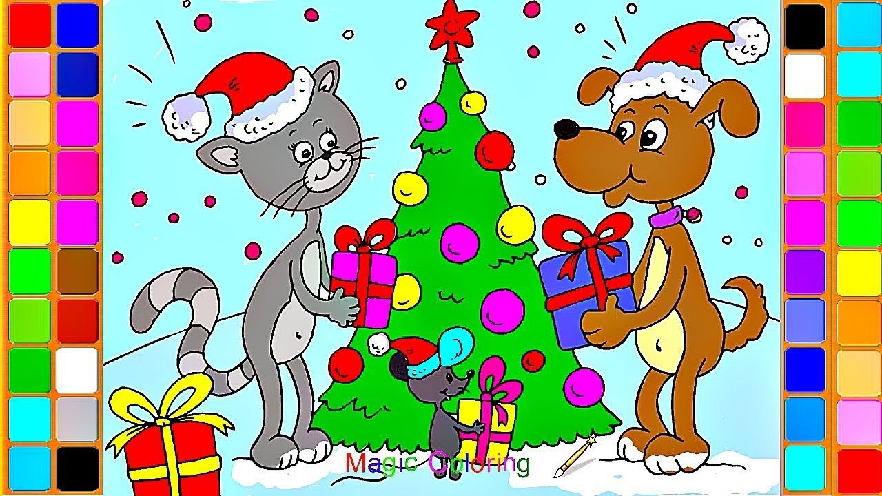Christmas Coloring Videos With Animals Magic Pages Drawing And Painting