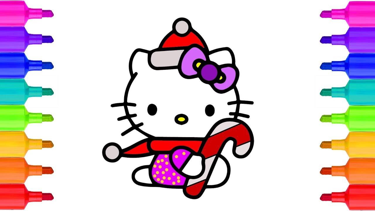 Christmas Coloring Videos With Hello Kitty Pages Colors For Kids Fun